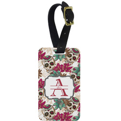 Sugar Skulls & Flowers Aluminum Luggage Tag (Personalized)