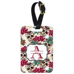 Sugar Skulls & Flowers Aluminum Luggage Tag (Personalized)
