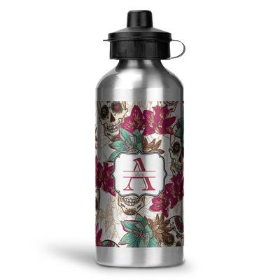Sugar Skulls & Flowers Water Bottle - Aluminum - 20 oz (Personalized)