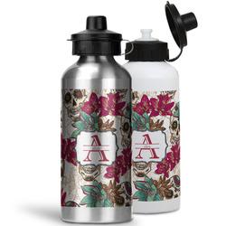 Sugar Skulls & Flowers Water Bottles- Aluminum (Personalized)