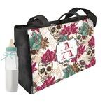 Sugar Skulls & Flowers Diaper Bag w/ Name and Initial
