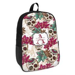 Sugar Skulls & Flowers Kids Backpack (Personalized)