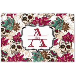 Sugar Skulls & Flowers Woven Mat (Personalized)