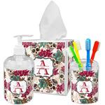 Sugar Skulls & Flowers Acrylic Bathroom Accessories Set w/ Name and Initial