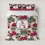 Sugar Skulls & Flowers Duvet Covers (Personalized)