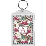 Sugar Skulls & Flowers Bling Keychain (Personalized)