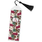 Sugar Skulls & Flowers Book Mark w/Tassel (Personalized)