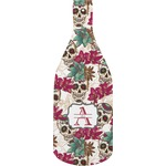 Sugar Skulls & Flowers Bottle Shaped Cutting Board (Personalized)