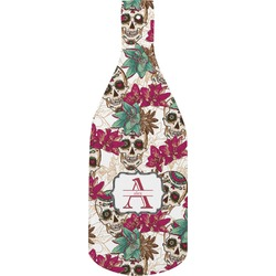 Sugar Skulls & Flowers Bottle Shaped Cutting Board (Personalized)