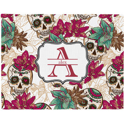 Sugar Skulls & Flowers Placemat (Fabric) (Personalized)