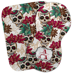 Sugar Skulls & Flowers Burp Cloth (Personalized)