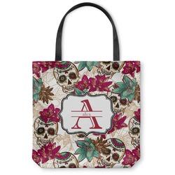 Sugar Skulls & Flowers Canvas Tote Bag (Personalized)