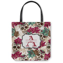 Sugar Skulls & Flowers Canvas Tote Bag (Personalized)