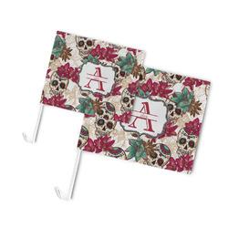 Sugar Skulls & Flowers Car Flag (Personalized)