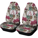 Sugar Skulls & Flowers Car Seat Covers (Set of Two) (Personalized)