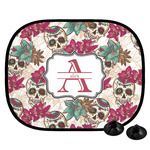 Sugar Skulls & Flowers Car Side Window Sun Shade (Personalized)
