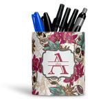 Sugar Skulls & Flowers Ceramic Pen Holder