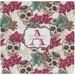 Sugar Skulls & Flowers Ceramic Tile Hot Pad (Personalized)