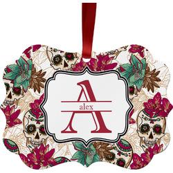 Sugar Skulls & Flowers Ornament (Personalized)