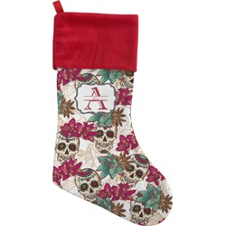 Sugar Skulls & Flowers Christmas Stocking (Personalized)