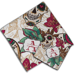 Sugar Skulls & Flowers Cloth Napkin w/ Name and Initial