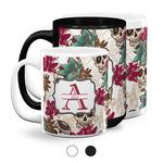 Sugar Skulls & Flowers Coffee Mugs (Personalized)
