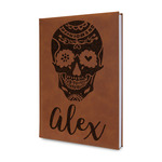 Sugar Skulls & Flowers Leatherette Journal (Personalized)