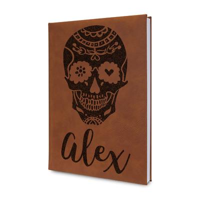 Sugar Skulls & Flowers Leatherette Journal (Personalized)