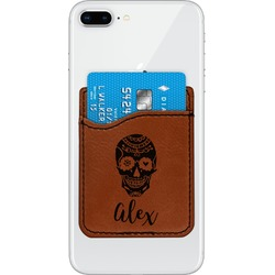 Sugar Skulls & Flowers Leatherette Phone Wallet (Personalized)