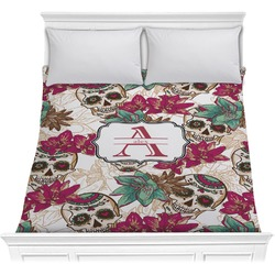 Sugar Skulls & Flowers Comforter (Personalized)