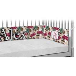 Sugar Skulls & Flowers Crib Bumper Pads (Personalized)