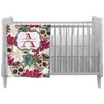 Sugar Skulls & Flowers Crib Comforter / Quilt (Personalized)