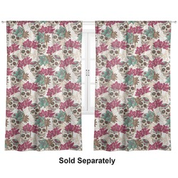 "Sugar Skulls & Flowers Curtains - 20""x54"" Panels - Lined (2 Panels Per Set) (Personalized)"