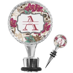 Sugar Skulls & Flowers Wine Bottle Stopper (Personalized)