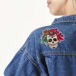 Sugar Skulls & Flowers Large Custom Shape Patch (Personalized)