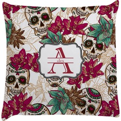 Sugar Skulls & Flowers Decorative Pillow Case (Personalized)