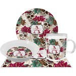 Sugar Skulls & Flowers Dinner Set - 4 Pc (Personalized)