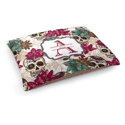 Sugar Skulls & Flowers Dog Pillow Bed (Personalized)