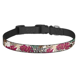 Sugar Skulls & Flowers Dog Collar - Multiple Sizes (Personalized)