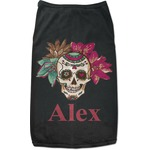 Sugar Skulls & Flowers Black Pet Shirt (Personalized)