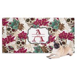 Sugar Skulls & Flowers Dog Towel (Personalized)