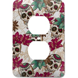 Sugar Skulls & Flowers Electric Outlet Plate (Personalized)