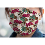 Sugar Skulls & Flowers Face Mask Cover (Personalized)