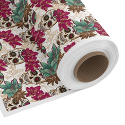 Sugar Skulls & Flowers Custom Fabric - Spun Polyester Poplin (Personalized)