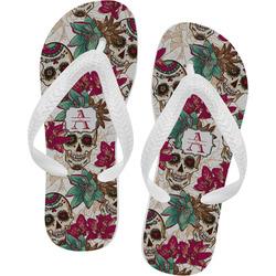 Sugar Skulls & Flowers Flip Flops (Personalized)