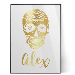 Sugar Skulls & Flowers Foil Print (Personalized)