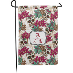 Sugar Skulls & Flowers Garden Flag - Single or Double Sided (Personalized)