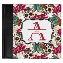 Sugar Skulls & Flowers Genuine Leather Baby Memory Book (Personalized)