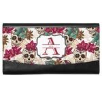 Sugar Skulls & Flowers Genuine Leather Ladies Wallet (Personalized)