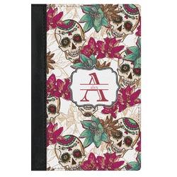 Sugar Skulls & Flowers Genuine Leather Passport Cover (Personalized)
